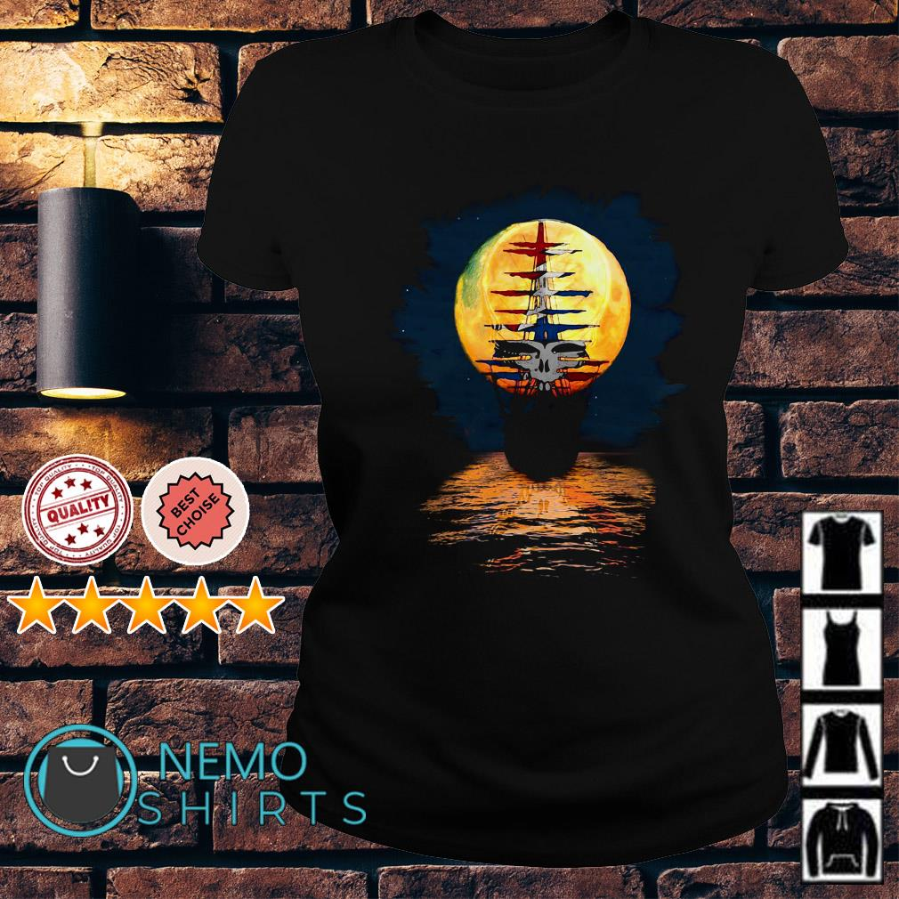 Ship of fools pirates of the moon steal your face Ladies Tee