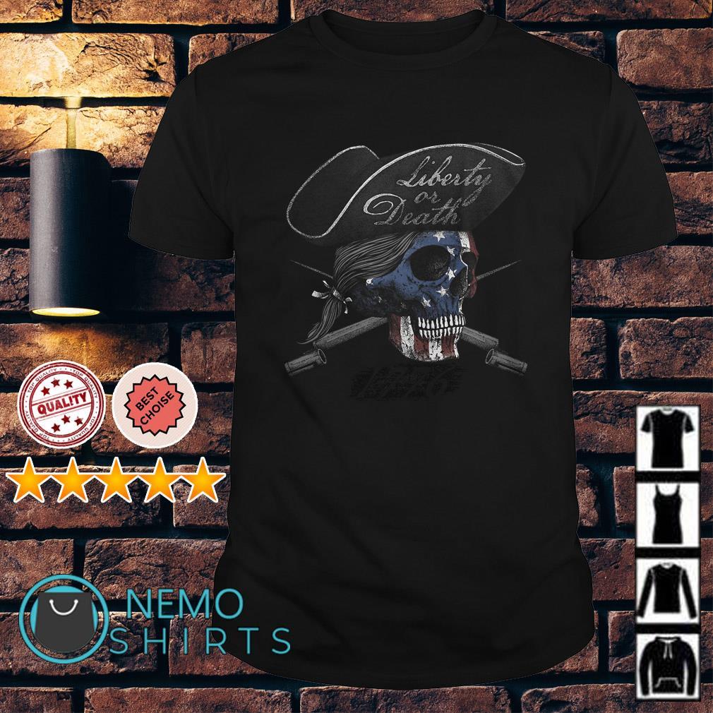 Skull Veteran liberty or death shirt