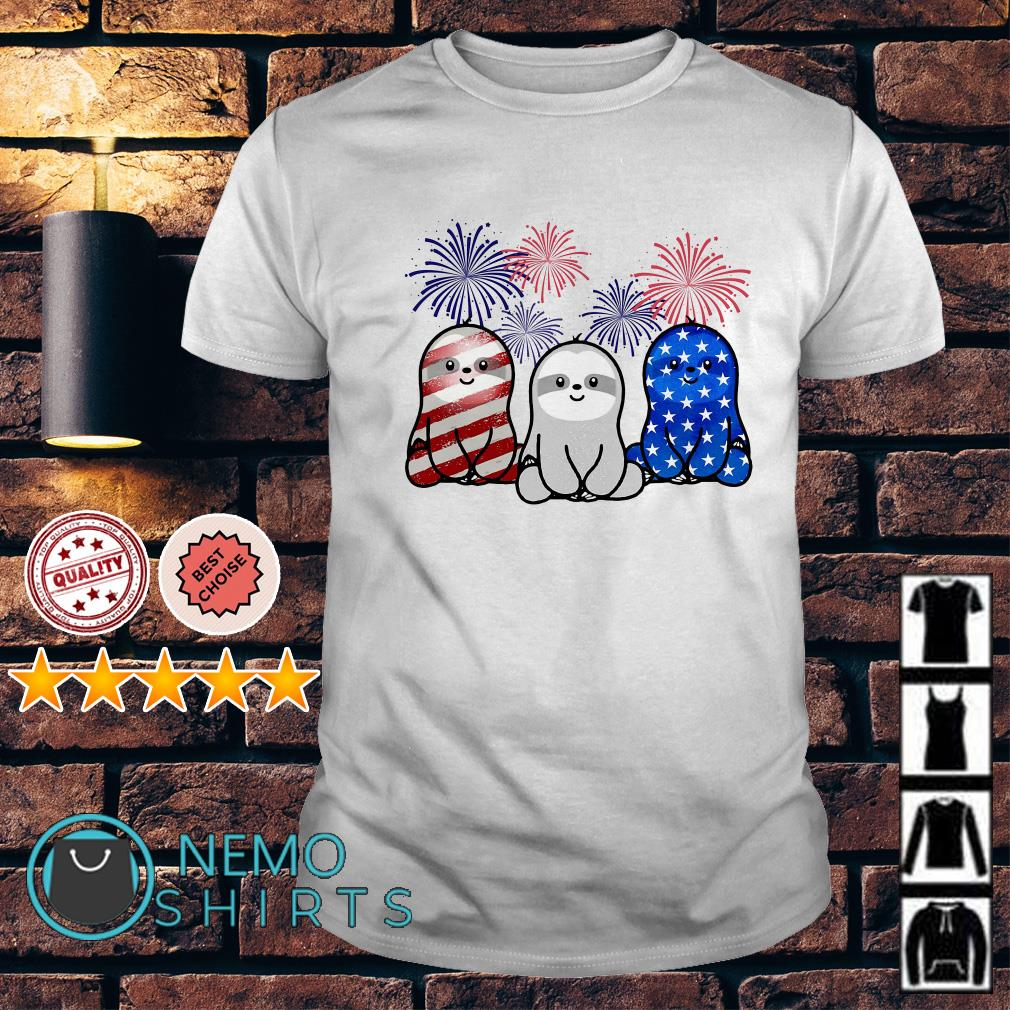 Sloths American flag happy Independence day shirt
