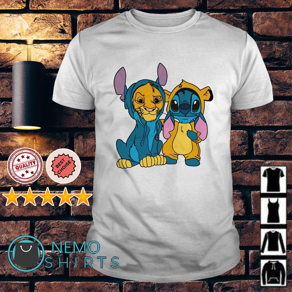Stitch and Simba are best friends shirt