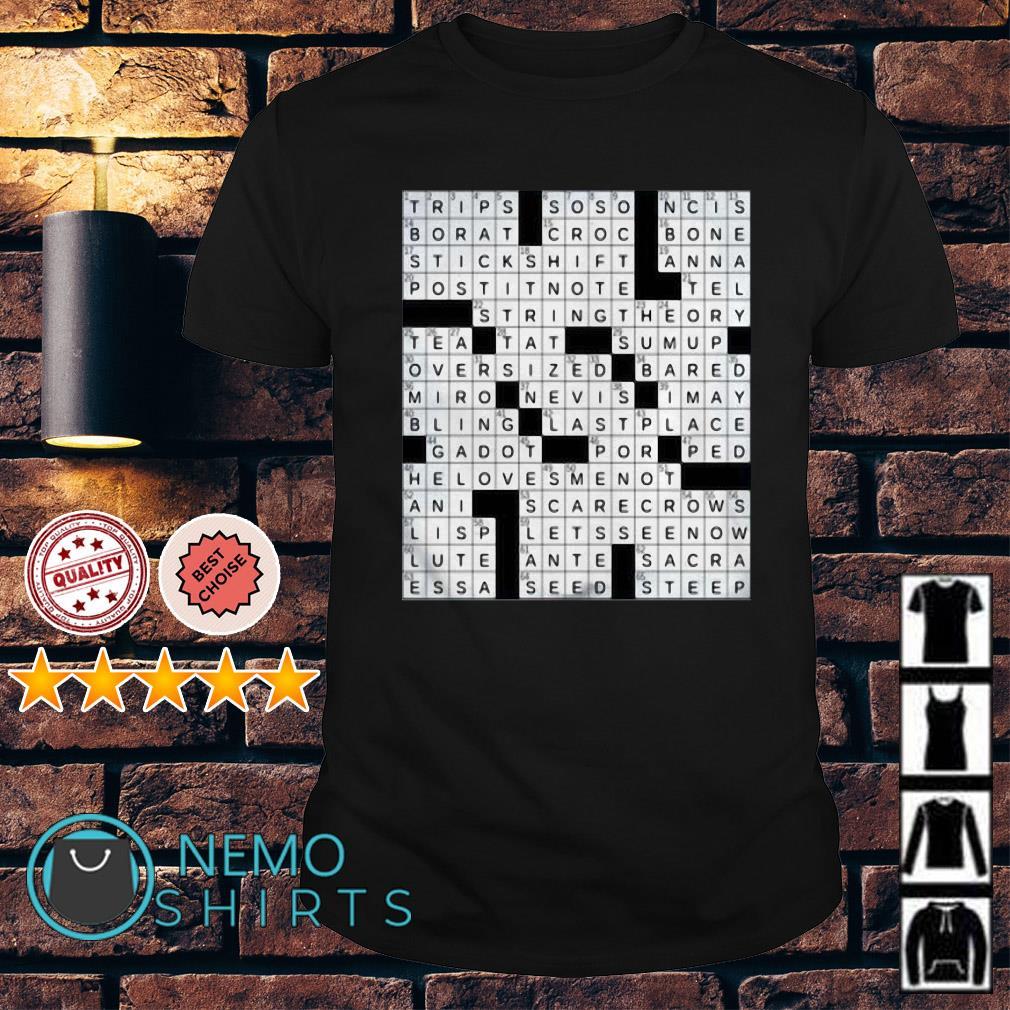Stuffed crossword clue shirt