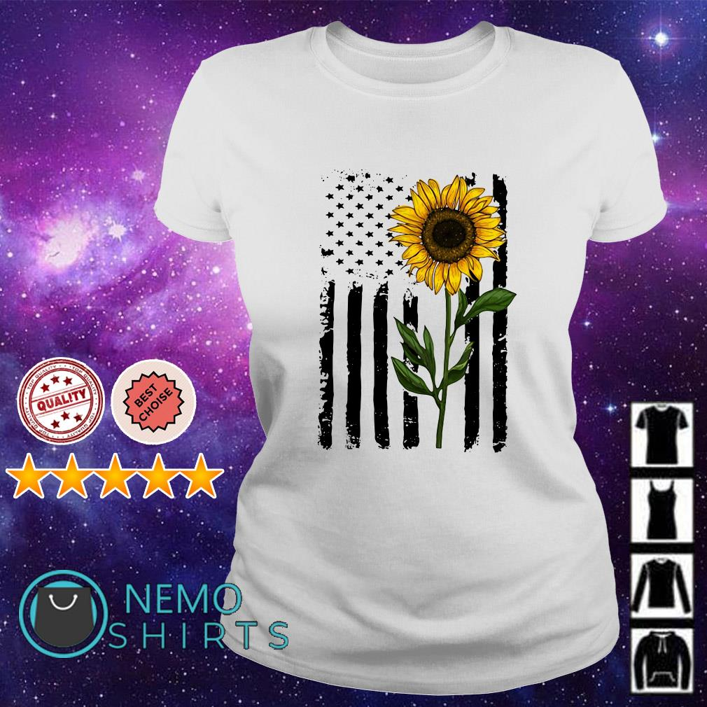 Sumflower American flag Independence day shirt