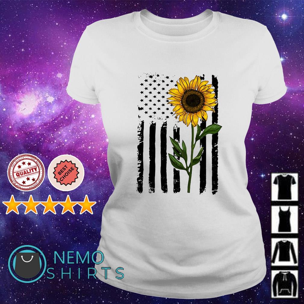 Sumflower American flag Independence day shirt
