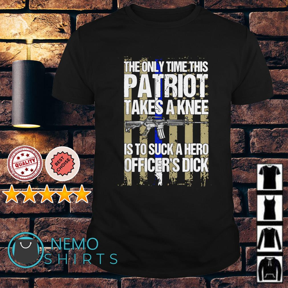 The only time this Patriot takes a knee shirt