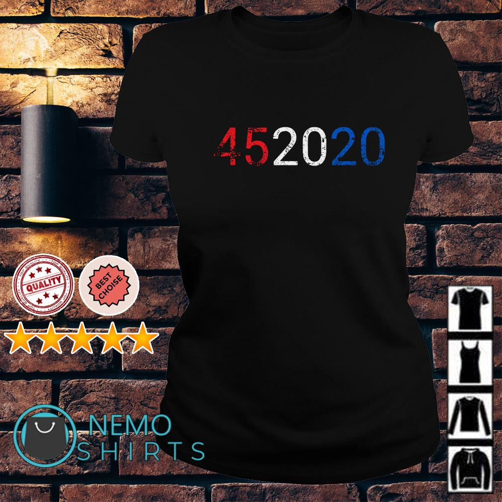 Trump 45 in 2020 Reelection 4th of July Ladies tee