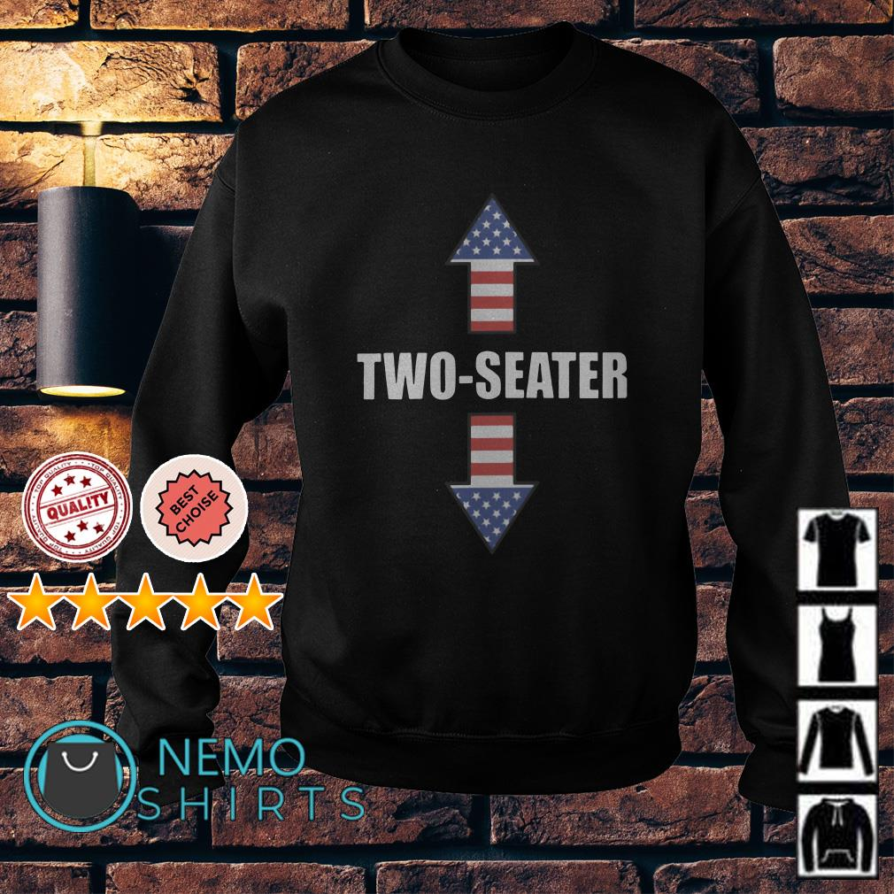 Two Seater Arrow 4th Of July American Flag Sweater