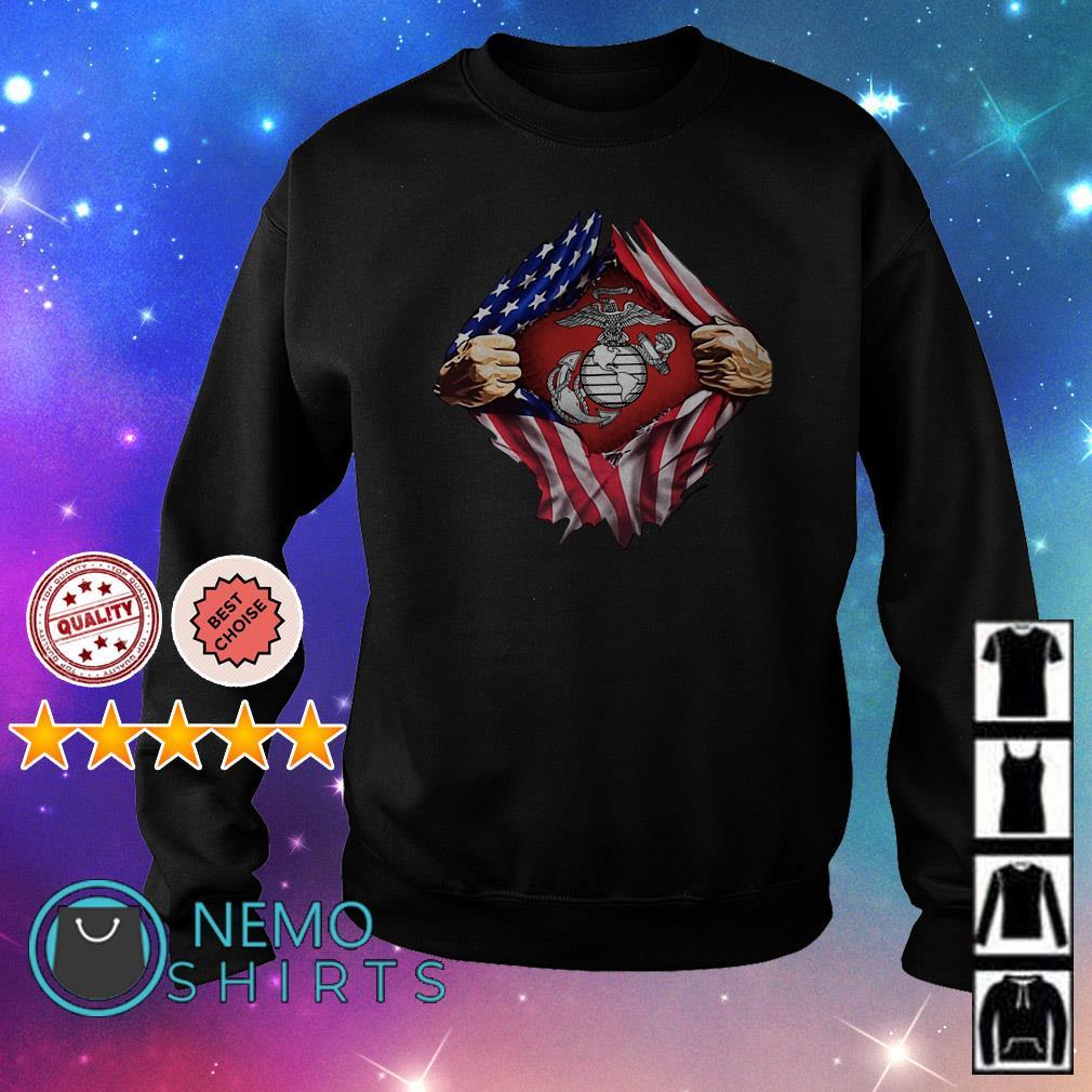 United States marine corps inside American flag Sweater