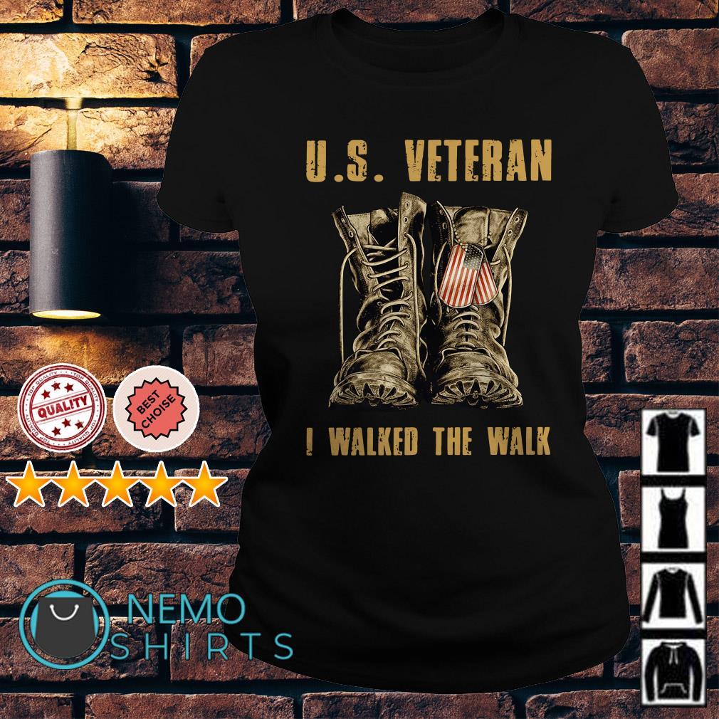 US veteran I walked the walk Ladies tee
