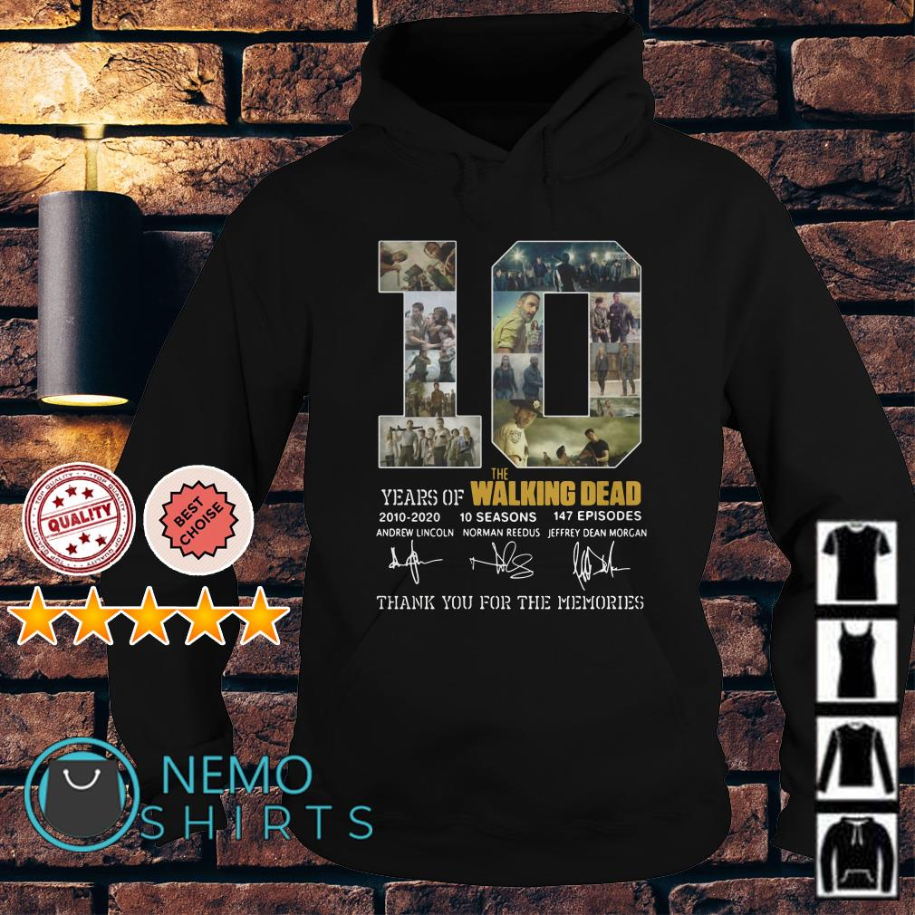 10 years of The Walking Dead thank you for the memories Hoodie