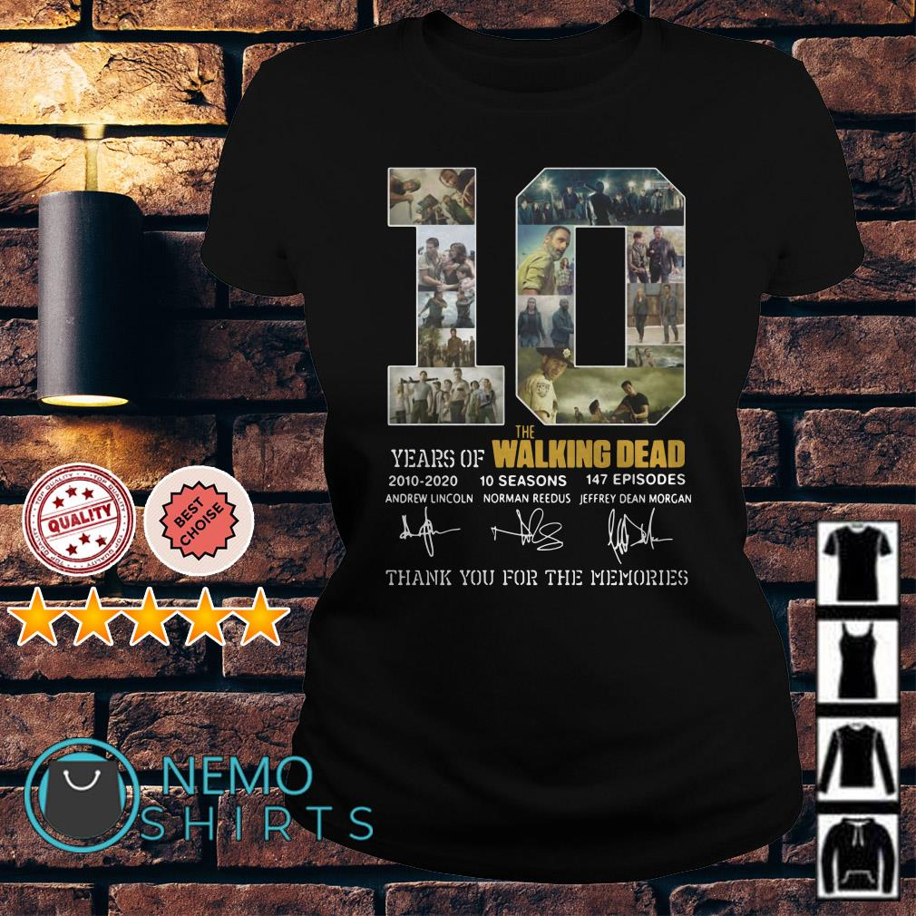 10 years of The Walking Dead thank you for the memories Ladies Tee