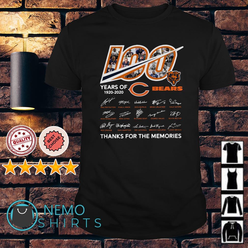 100 years of Chicago Bears 1920 2020 signature shirt