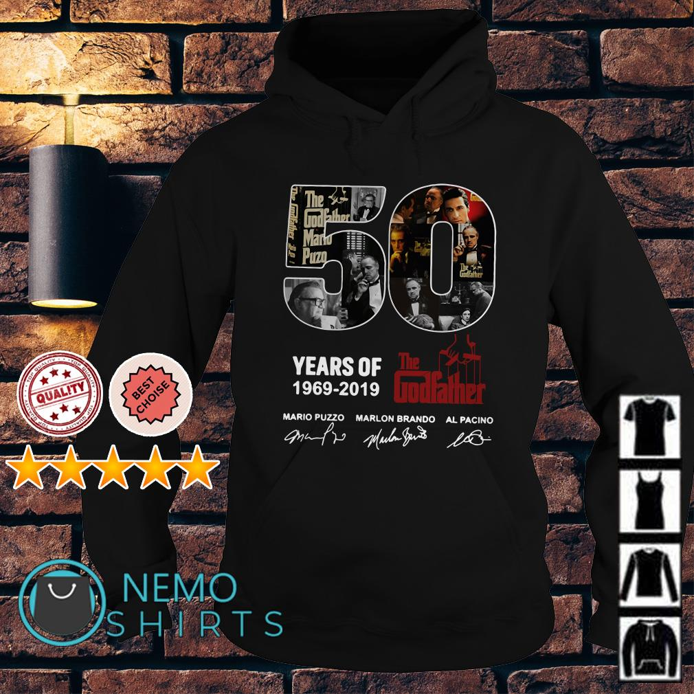 50 years of The Godfather 1969 2019 signature Hoodie