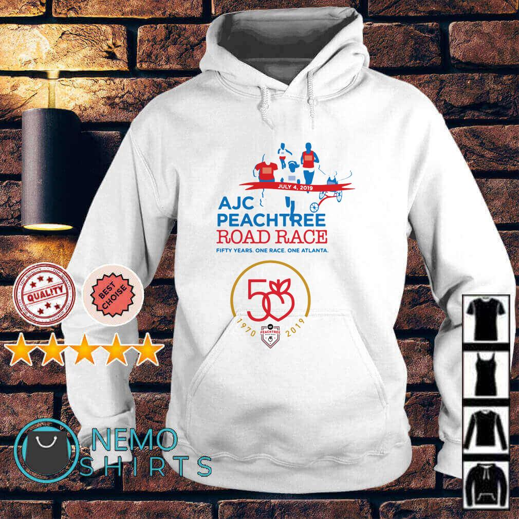 AJC Peachtree road race 50 years one race one Atlanta Hoodie