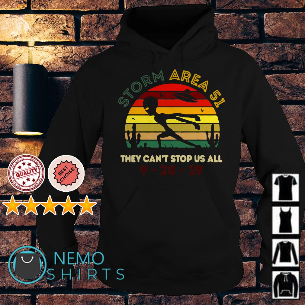 Alien Storm Area 51 they can't stop us all vintage Hoodie