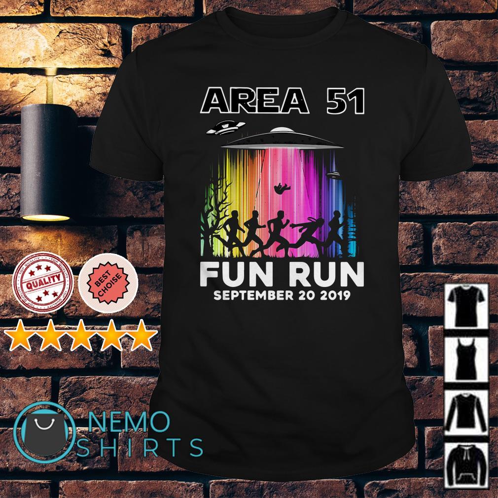 Area 51 fun run September 20 2019 shirt