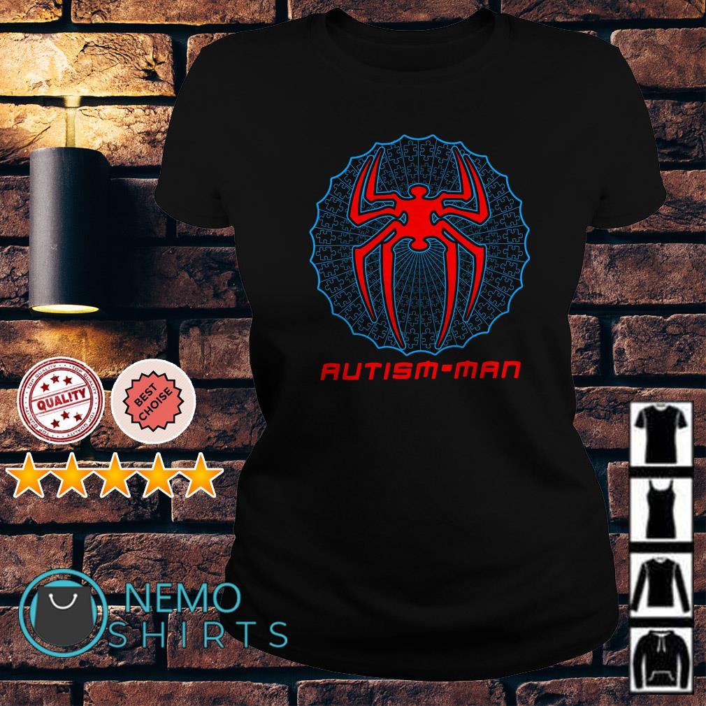 Autism Spider Man Autism Man Ladies Tee
