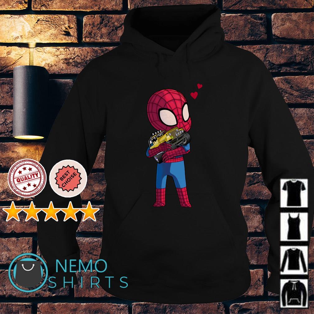 Baby Spider Man hug Jeep Hoodie