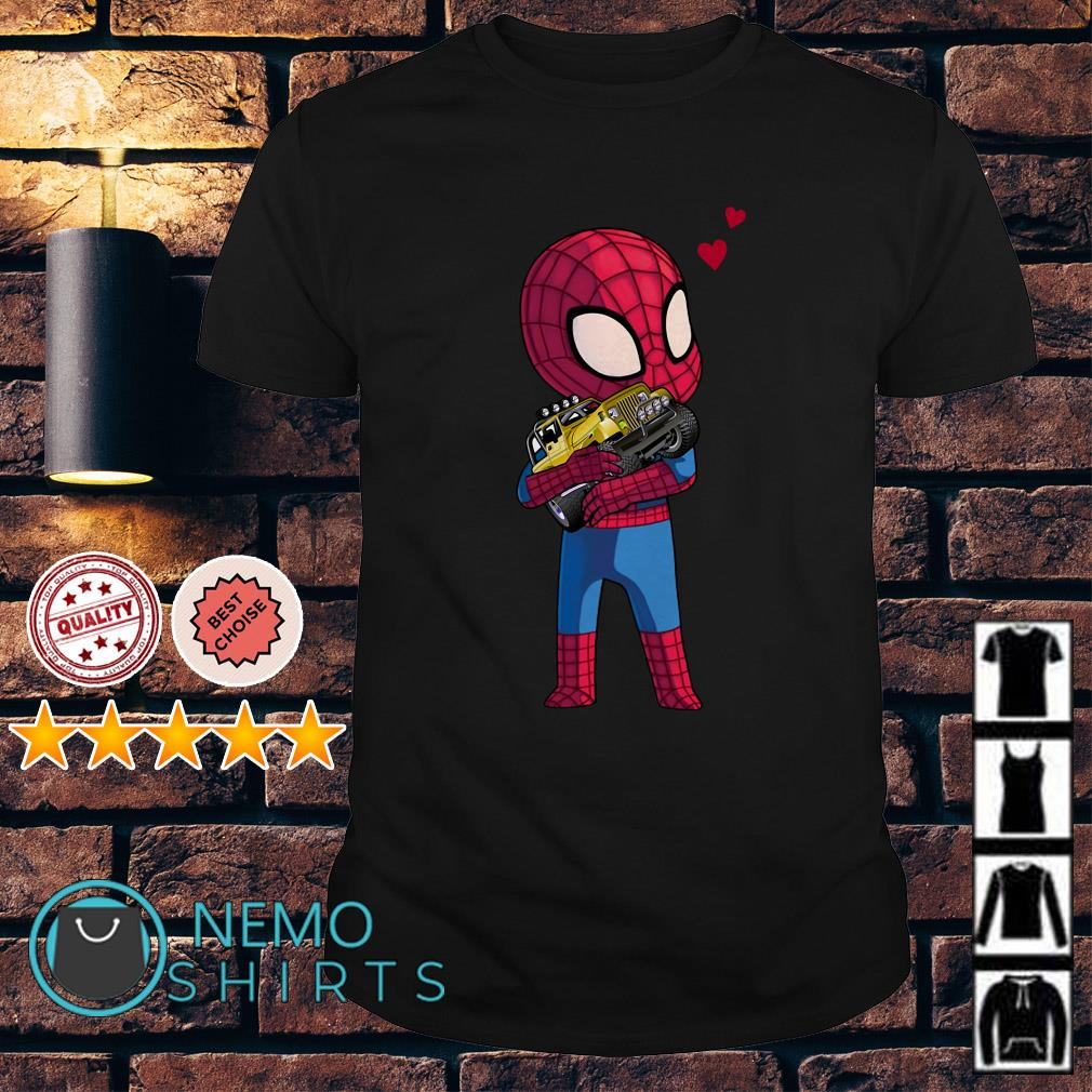 Baby Spider Man hug Jeep shirt