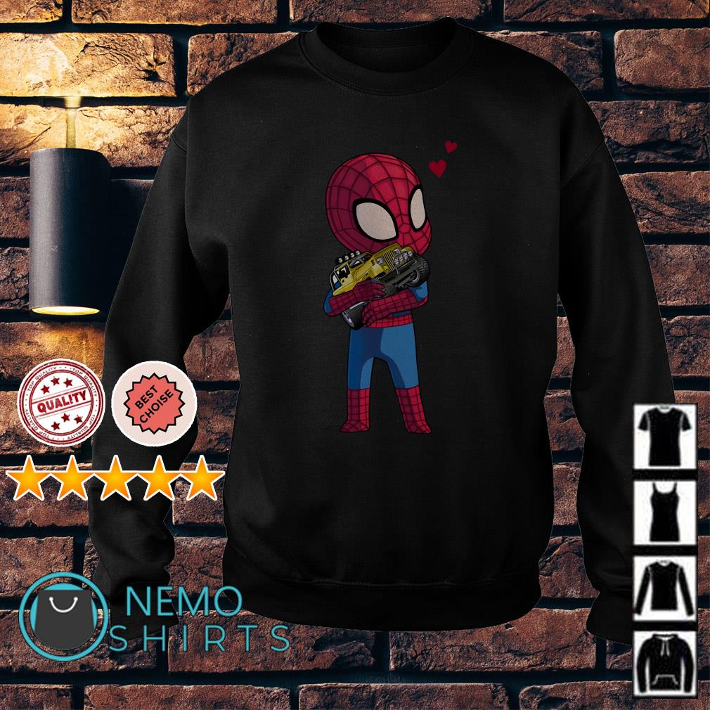 Baby Spider Man hug Jeep Sweater
