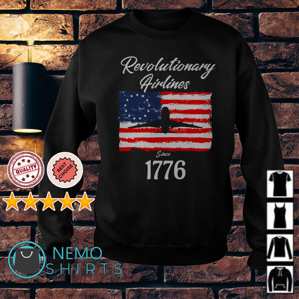 Betsy Ross American flag Revolutionary Airlines since 1776 Sweater
