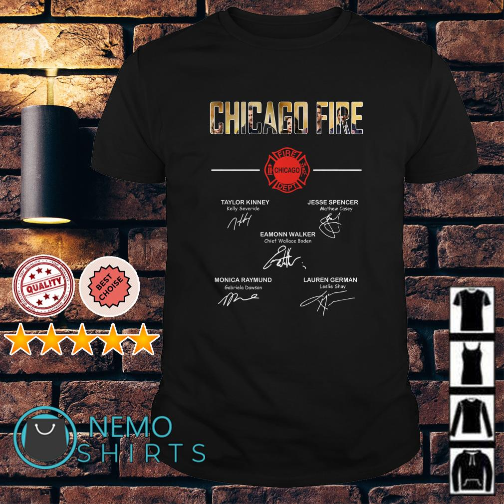 Chicago fire dept signature shirt