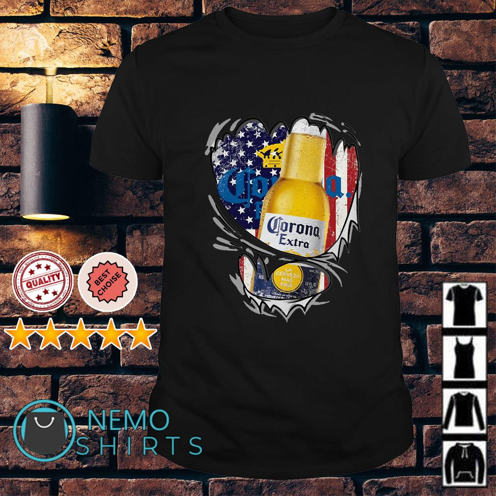 Corona Extra inside me Independence day shirt