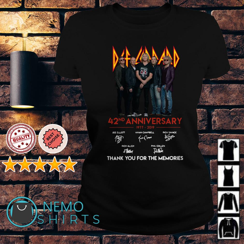 Def Leppard 42nd Anniversary thank you for the memories Ladies Tee