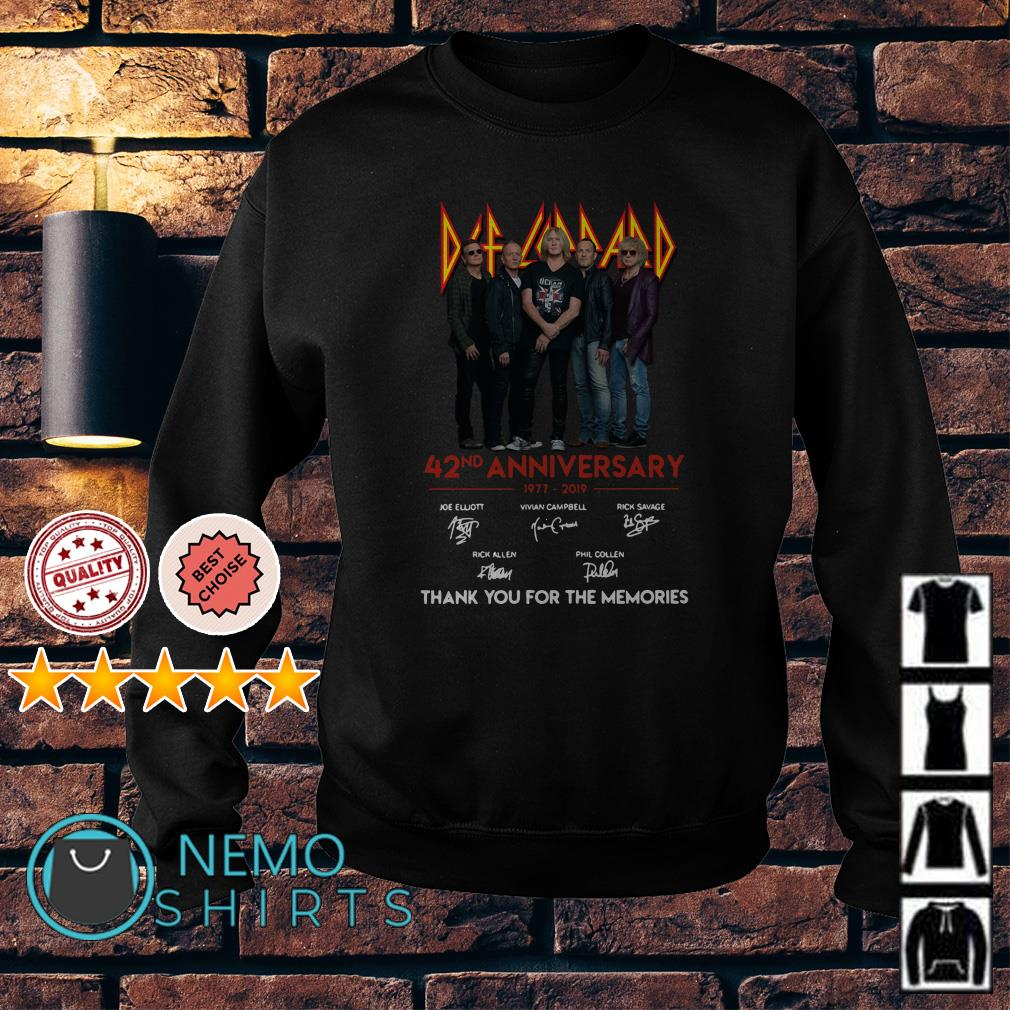 Def Leppard 42nd Anniversary thank you for the memories Sweater