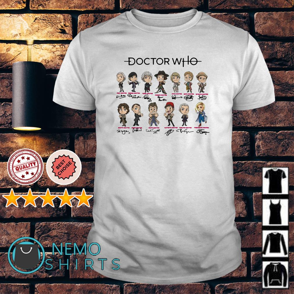 Doctor Who all characters chibi signature shirt