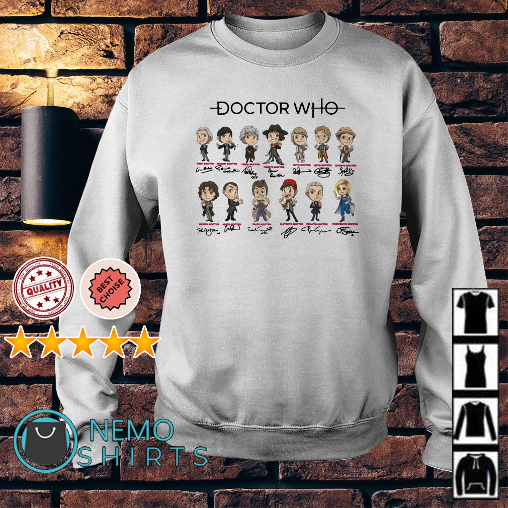 Doctor Who all characters chibi signature Sweater