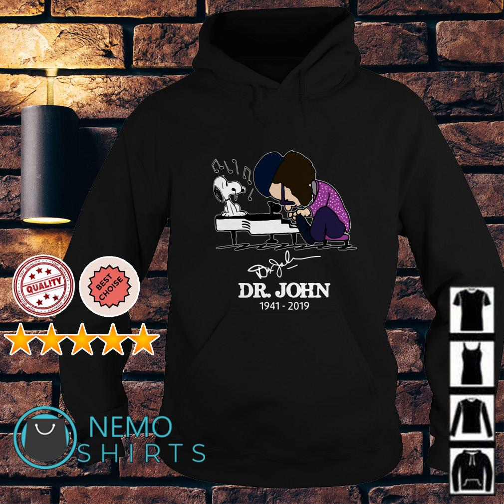 Dr John and Snoopy mashup Schroeder playing piano signature Hoodie