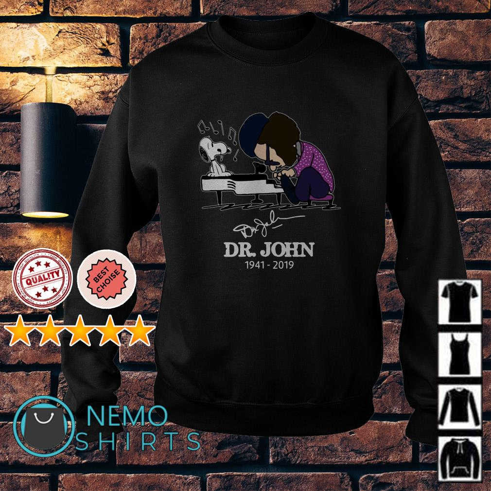 Dr John and Snoopy mashup Schroeder playing piano signature Sweater