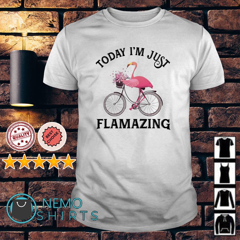 Flamingo today I'm just flamazing Guys Shirt