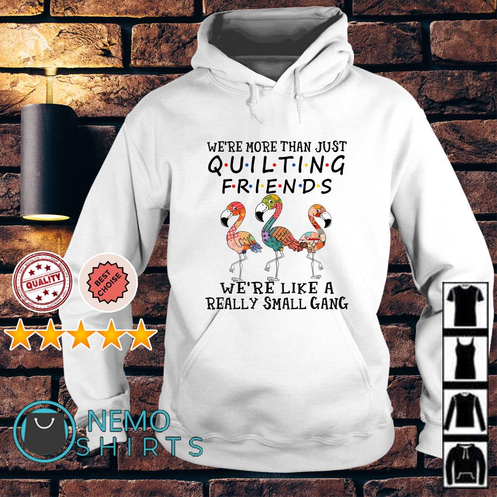 Flamingos we're more than just quilting friends Hoodie