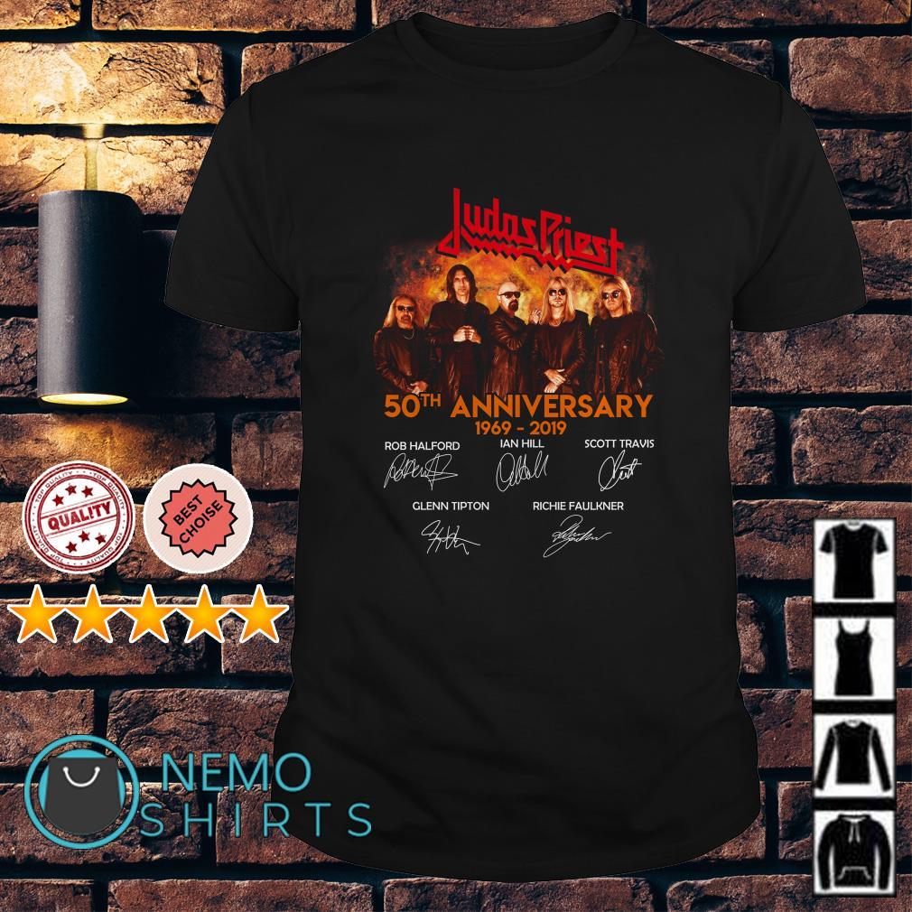 Judas Priest 50th Anniversary 1969 2019 signature shirt