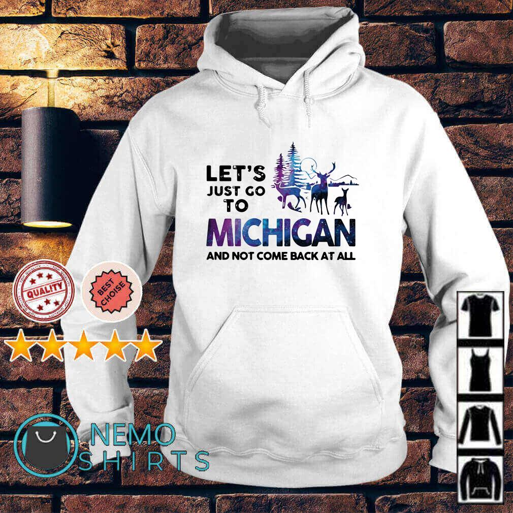 Let's just go to Michigan and not come back at all Hoodie
