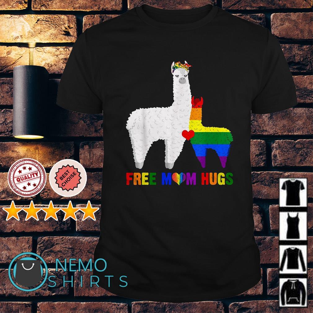 LGBT Llama free Mom hugs shirt