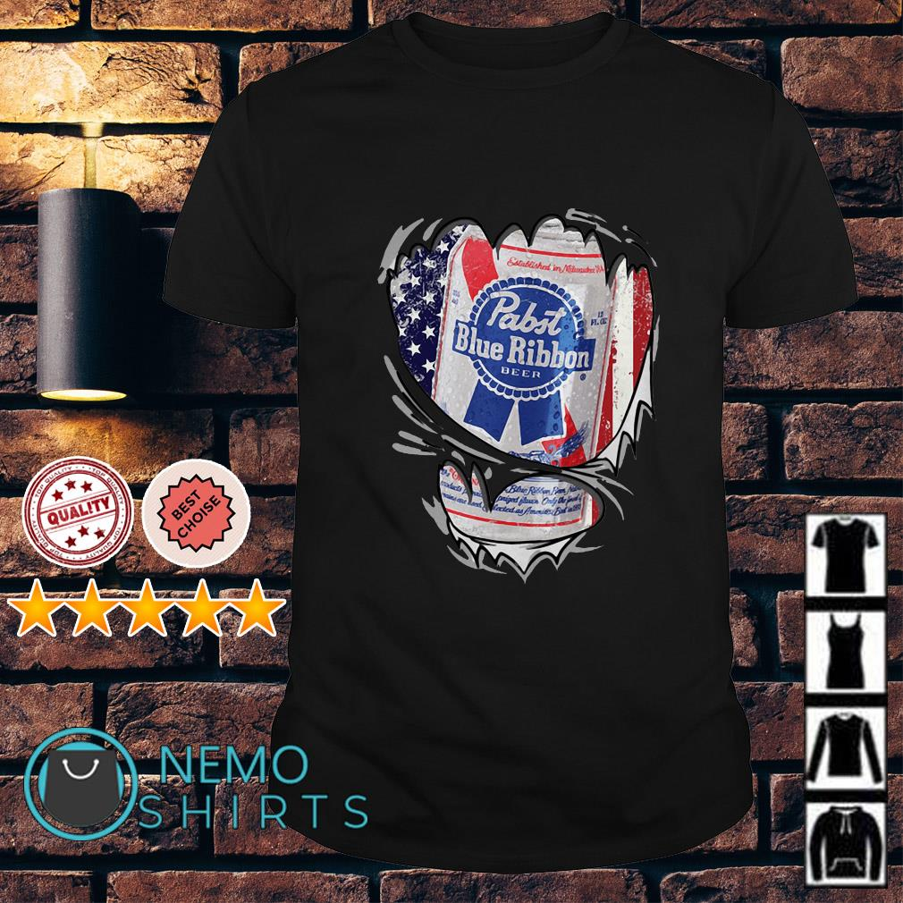 Pabst Blue Ribbon inside me Independence day shirt