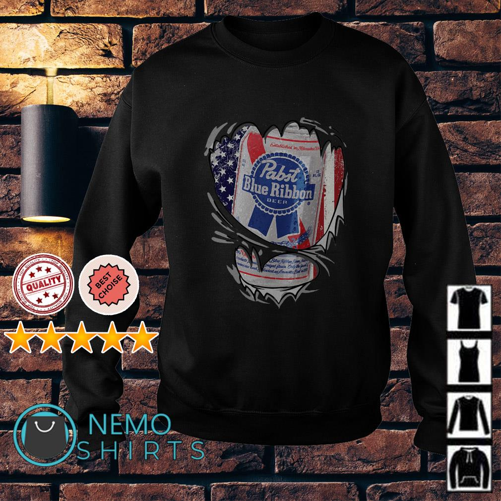 Pabst Blue Ribbon inside me Independence day Sweater