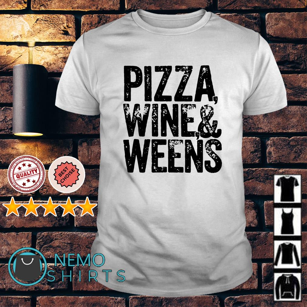Pizza wine and weens American Doxie shirt