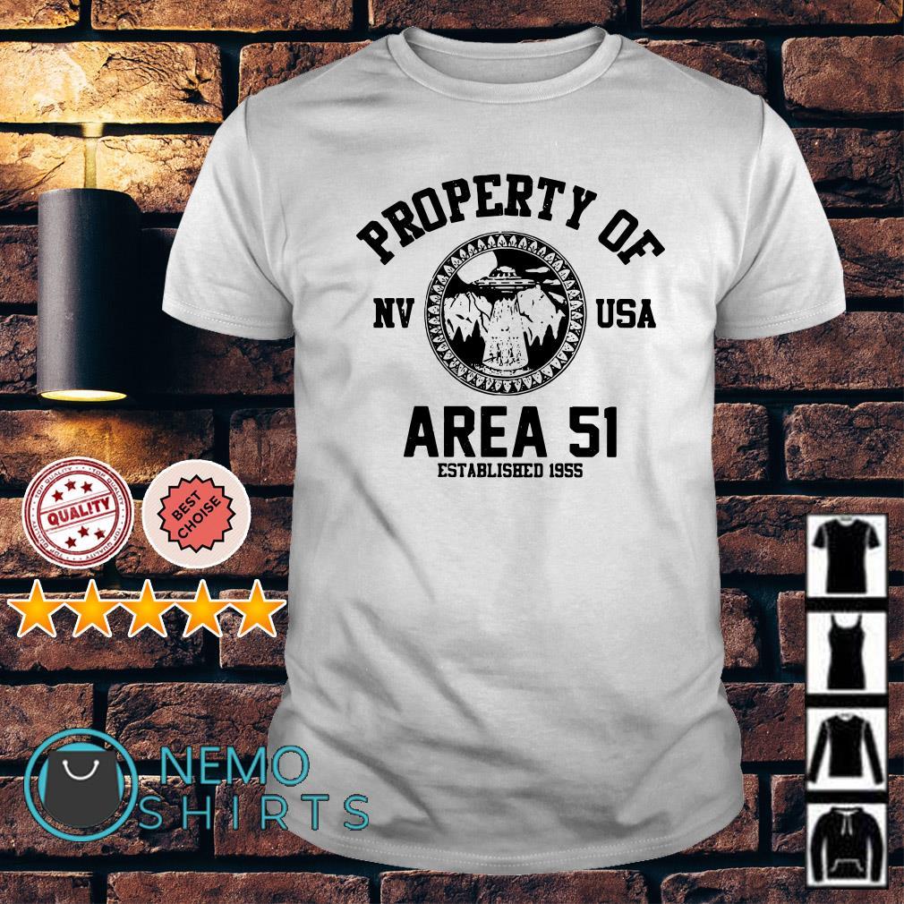 Property of Area 51 established 1955 shirt