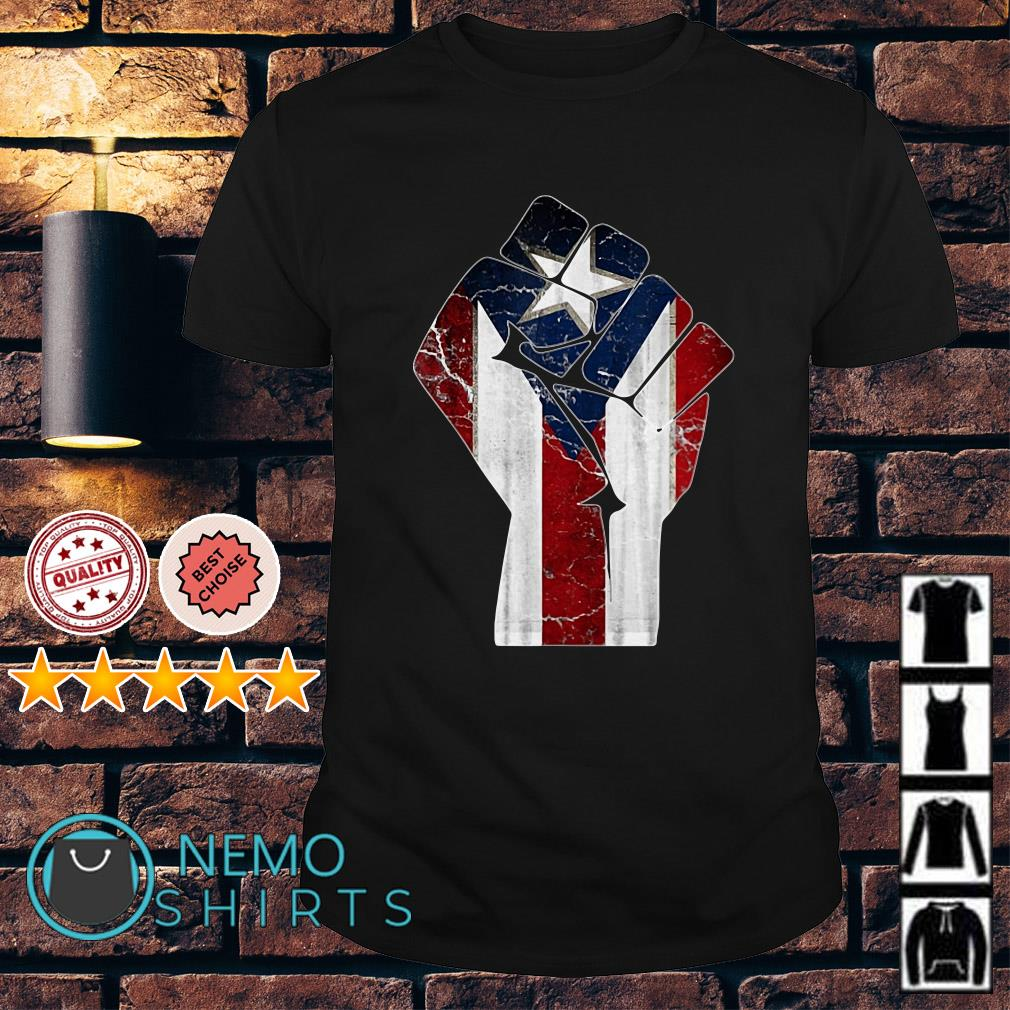 Puerto Rico Resiste Boricua Flag shirt