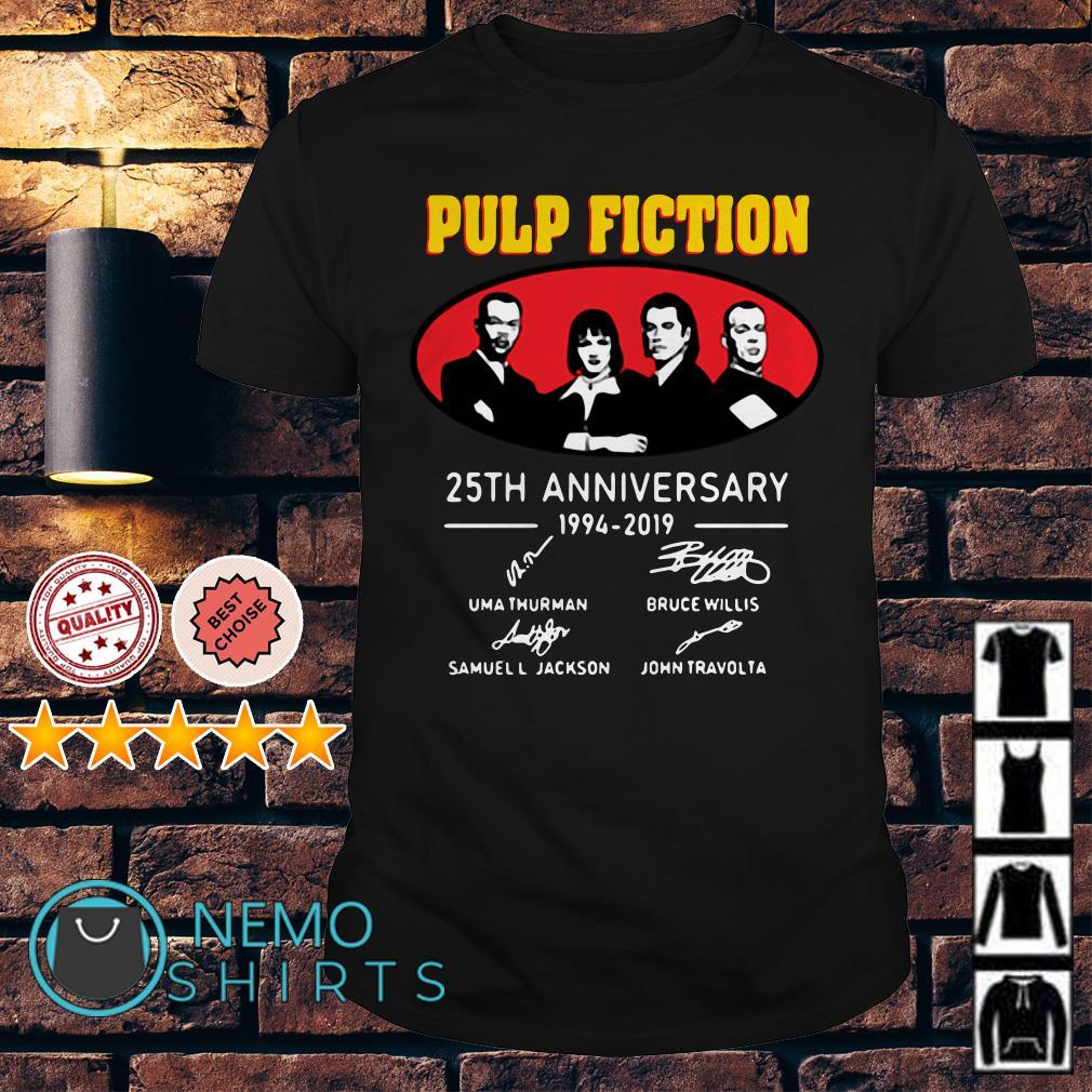 Pulp Fiction 25th Anniversary 1994 2019 signature shirt