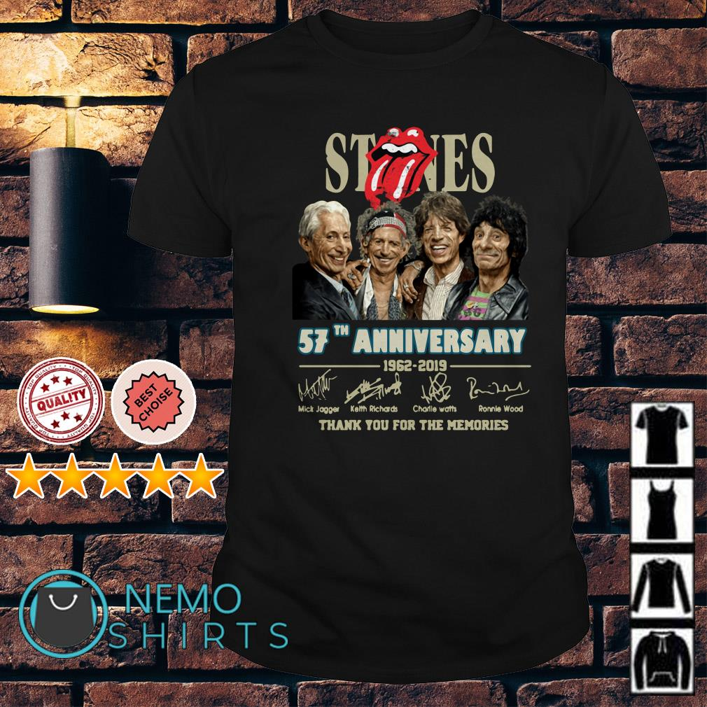 The Rolling Stones 57th Anniversary thank you for the memories shirt