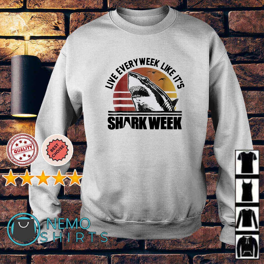 Shark week live every week like it's vintage Sweater