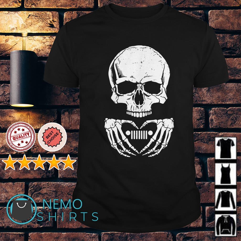 Skull love Jeep shirt