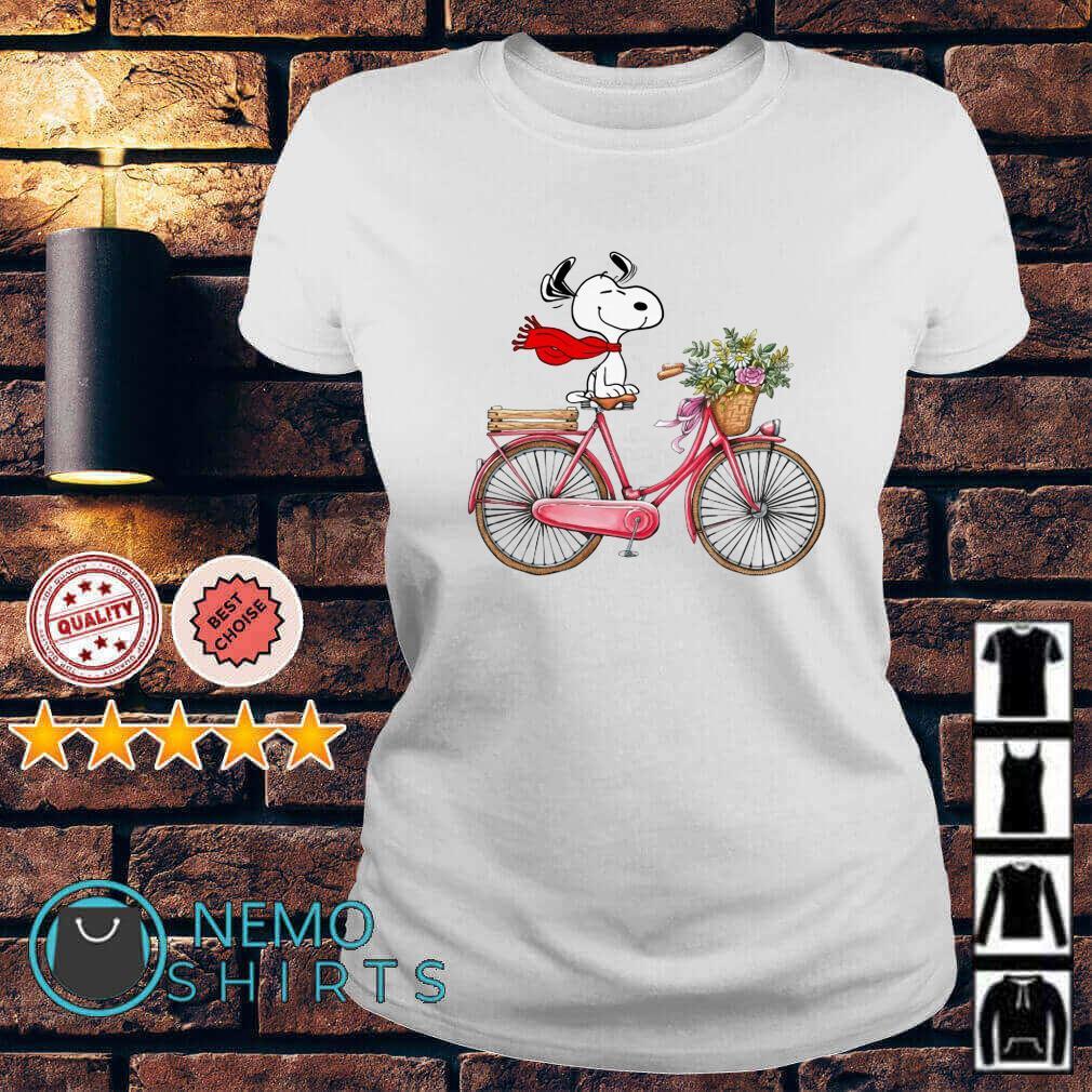 Snoopy Riding Bicycle Ladies tee