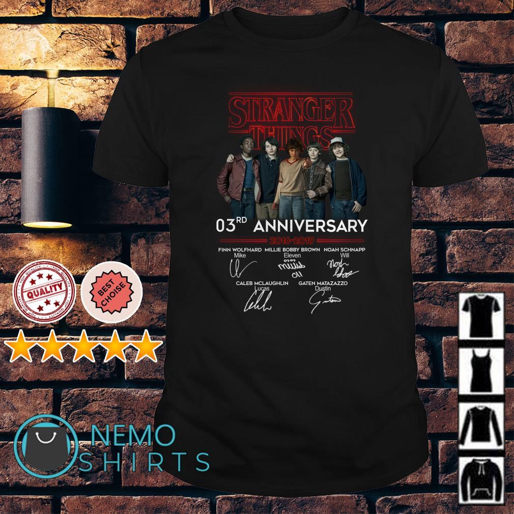 Stranger Things 03rd Anniversary 2016 2019 signature shirt