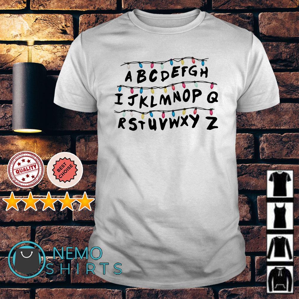 Stranger Things Alphabet Wall Christmas Lights shirt