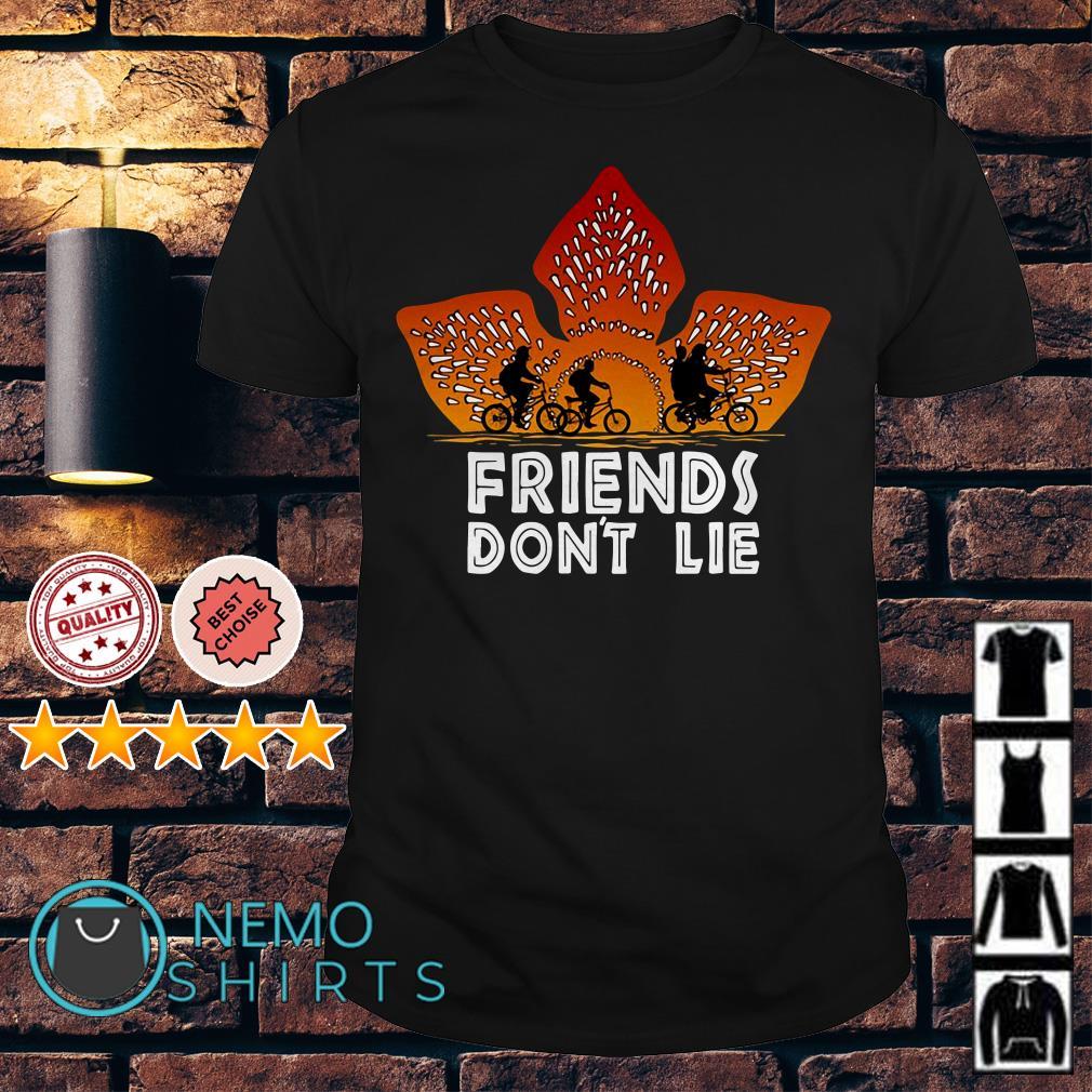 Stranger Things Demogorgon friends don't lie shirt